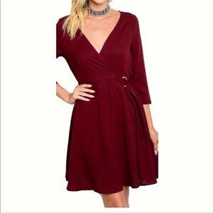 "Modern Owl Boutique Dresses - ""Abigail"" Wrapped V-Neck Dress with Belt"